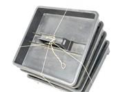 """(4) Plastic Parts Trays 11""""x12""""x2"""" Deep"""