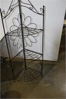 Foldable 3-Tiered Corner Shelf