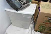 (4) Boxes of Household Items & Tote