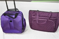Rolling Luggage & Thirty-One Reversible Bag