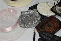 Group of Purses, Hats, etc.