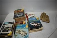 Group of Vintage Manuals & Baseball Glove