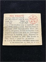 1950 Bowman Gum Phil Rizzuto Baseball Card