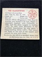 1950 Bowman Gum Ted Zluszewshi Baseball Card