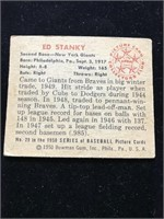 1950 Bowman Gum Ed Stanky Baseball Card