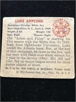 1950 Bowman Gum Luke Appling Baseball Card