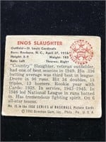 1950 Bowman Gum Enos Slaughter Baseball Card