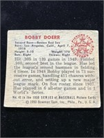 1950 Bowman Gum Bobby Doerr Baseball Card