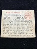 1950 Bowman Gum Dom DiMaggio