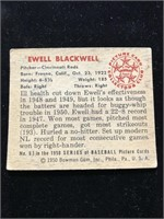 1950 Bowman Gum Ewell Blackwell Baseball Card