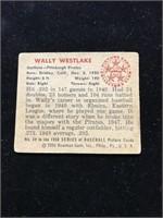 1950 Bowman Gum Wally Westlake Baseball Card