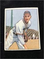 1950 Bowman Gum Larry Jansen Baseball Card