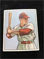 1950 Bowman Gum Del Ennis Baseball Card