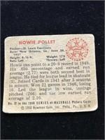 1950 Bowman Gum Howie Pollet Baseball Card