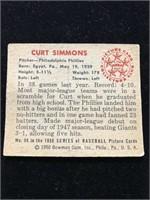 1950 Bowman Gum Curt Simmons Baseball Card