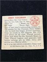 1950 Bowman Gum Jerry Coleman Baseball Card