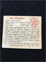 1950 Bowman Gum Del Crandall Baseball Card