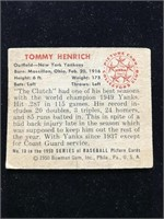 1950 Bowman Gum Tommy Henrich Baseball Card