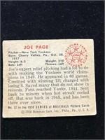 1950 Bowman Gum Joe Page Baseball Card