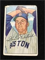 1952 Bowman Gum Ivan Delock Baseball Card