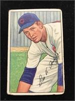 1952 Bowman Gum Dee Fondy Baseball Card