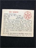 1950 Bowman Gum Vic Wertz Baseball Card