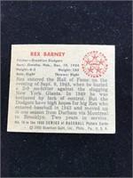 1950 Bowman Gum Rex Barney Baseball Card