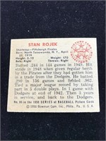 1950 Bowman Gum Stan Rojek Baseball Card