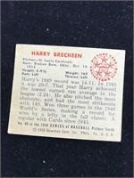 1950 Bowman Gum Harry Brecheen Baseball Card
