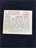 1950 Bowman Gum Hank Majeski Baseball Card