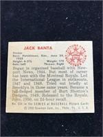 1950 Bowman Gum Jack Banta Baseball Card