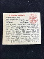 1950 Bowman Gum Johnny Groth Baseball Card