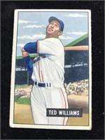 1951 Bowman Gum Ted Williams Baseball Card