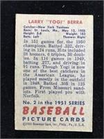 "1951 Bowman Gum Larry ""Yogi? Berra Baseball Card"