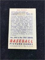 1951 Bowman Gum Bill Dickey Baseball Card