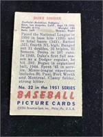 1951 Bowman Gum Duke Snider Baseball Card