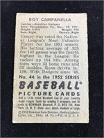 1952 Bowman Gum Roy Campanella Baseball Card