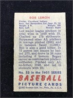 1951 Bowman Gum Bob Lemon Baseball Card