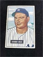1951 Bowman Gum Johnny Mize Baseball Card