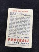 1951 Bowman Gum Rebel Roy Steiner Football Card