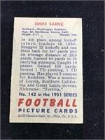 1951 Bowman Gum Eddie Saenz Football Card