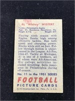 "1951 Bowman Gum Al ""Whitey? Wistert Football"