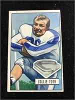 1951 Bowman Gum Zollverein Toth Football  Card