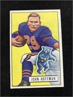 1951 Bowman Gum John Hoffman Football Card