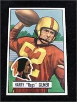 "1951 Bowman Gum Harry ""Rags? Gilmer Football Card"
