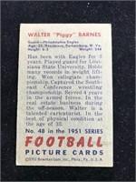 "1951 Bowman Gum Walter ""Piggy? Barnes Football"