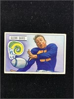 1951 Bowman Gum Glenn Davis Football Card