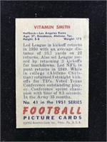 1951 Bowman Gum Vitamin Smith Football Card