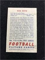 1951 Bowman Gum Bob Boyd Football Card
