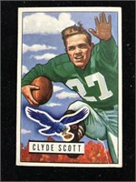 1951 Bowman Gum Clyde Scott Football Card